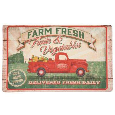 Vegetable Trucks Multi 18 in. x 30 in. Kitchen Mat