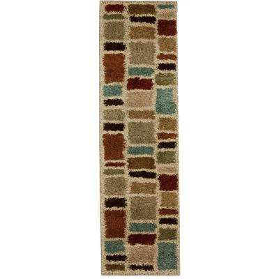 Moodie Blues Multicolor 2 ft. x 7 ft. Runner Rug