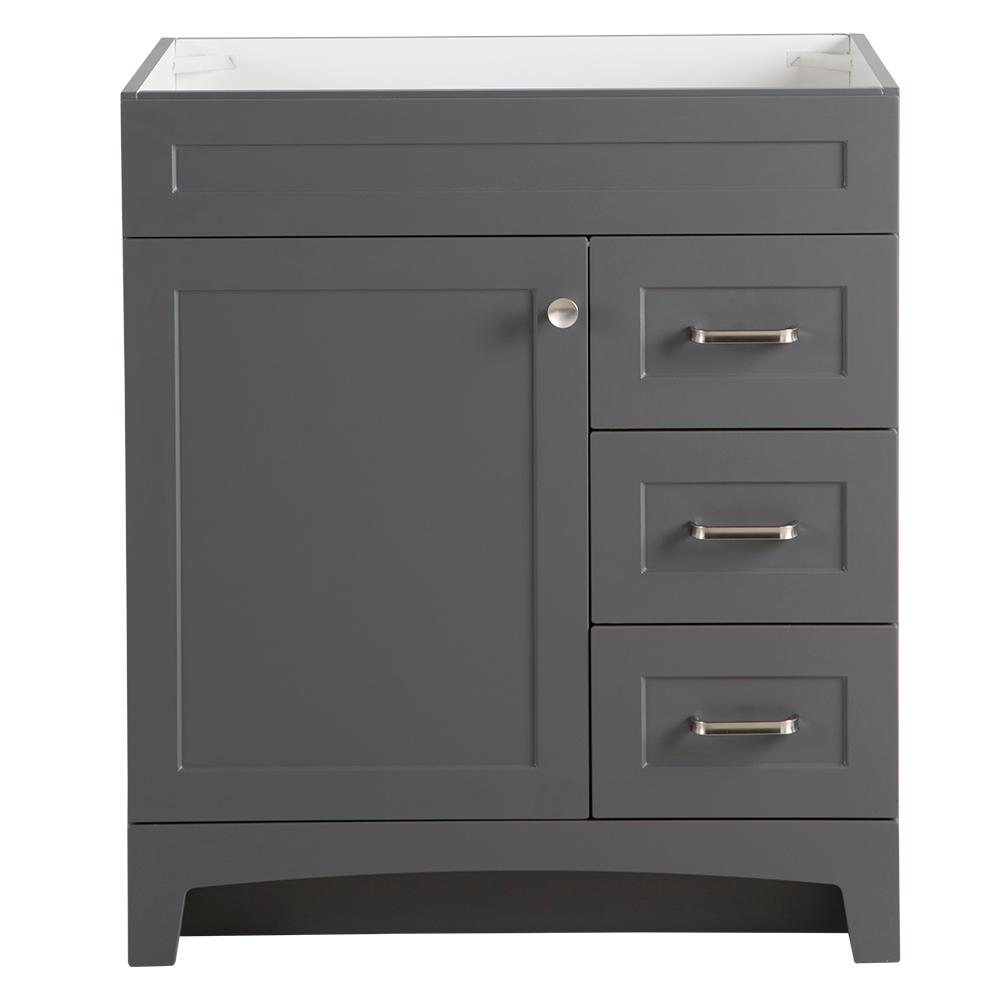 Home Decorators Collection Thornbriar 30 In. W X 21 In. D Bathroom Vanity Cabinet In Cement