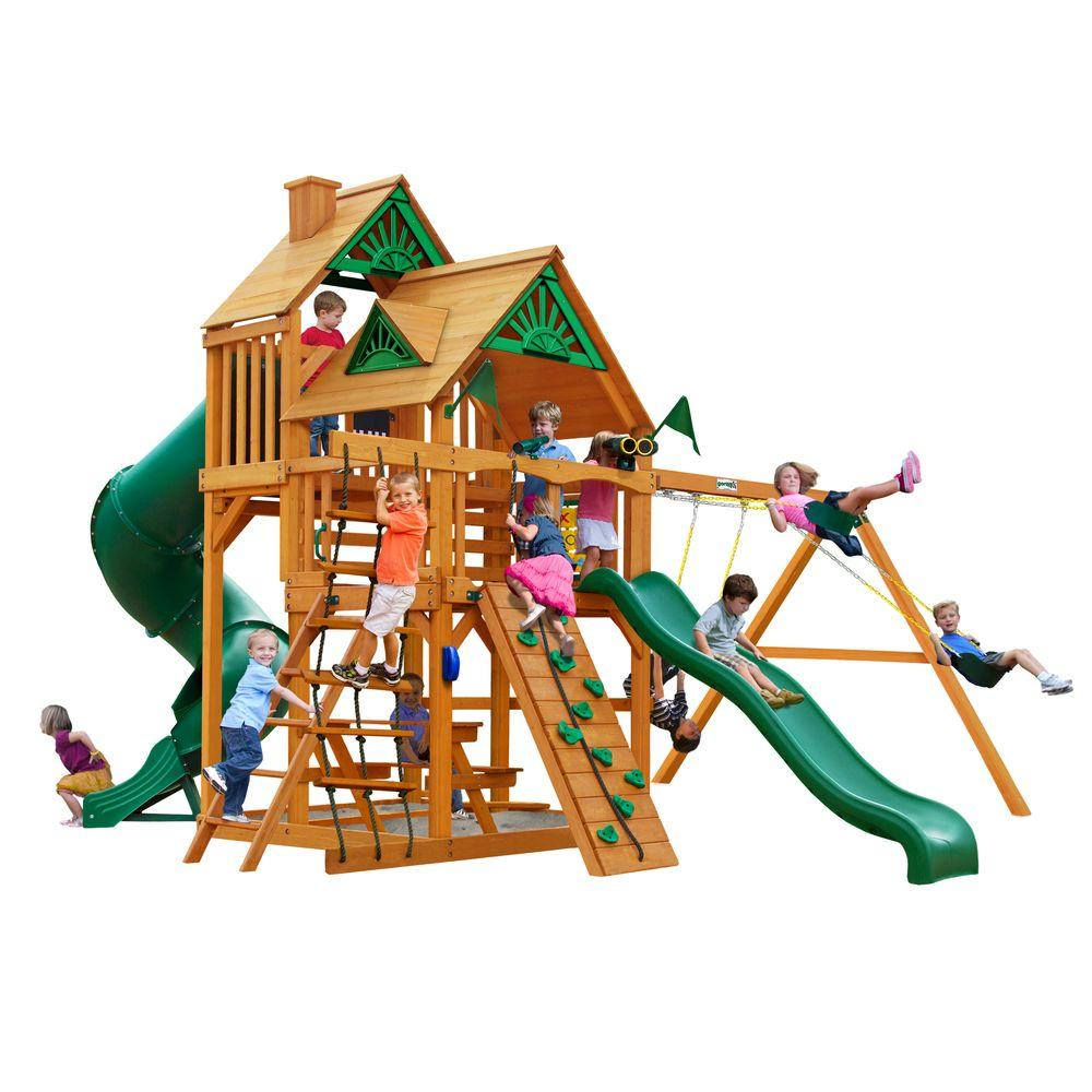 Gorilla Playsets Great Skye I with Amber Posts Cedar Cedar Playset