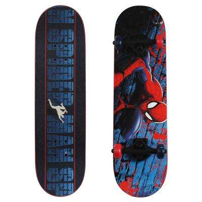 28 in. Ultimate Spider-Man Complete Skateboard in Spider-Crawl Graphic