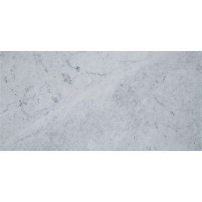 Carrara White 12 in. x 24 in. Honed Marble Floor and Wall Tile (12 sq. ft. / case)