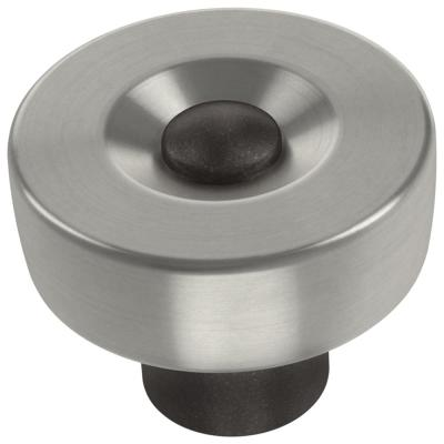 Riveted 1-1/4 in. (32 mm) Cocoa Bronze with Satin Nickel Cabinet Knob