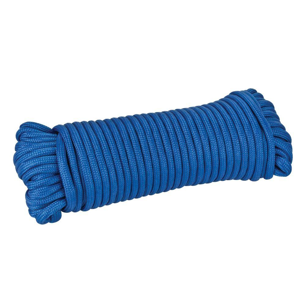 1/8 in. x 50 ft. Blue Paracord Polypropylene Rope