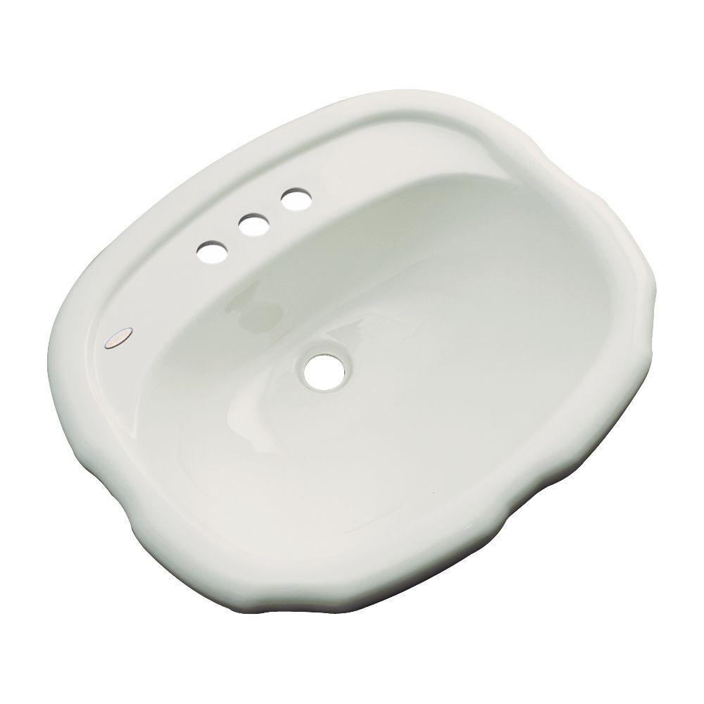 Aymesbury Drop-In Bathroom Sink in Tender Gray