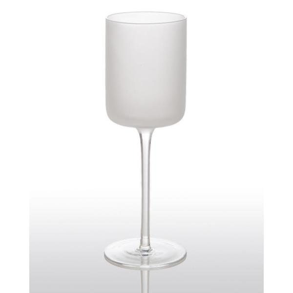 White Night Frosted Water Glass