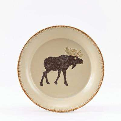 Rustic Retreat Tan Moose Salad Plate (Set of 4)