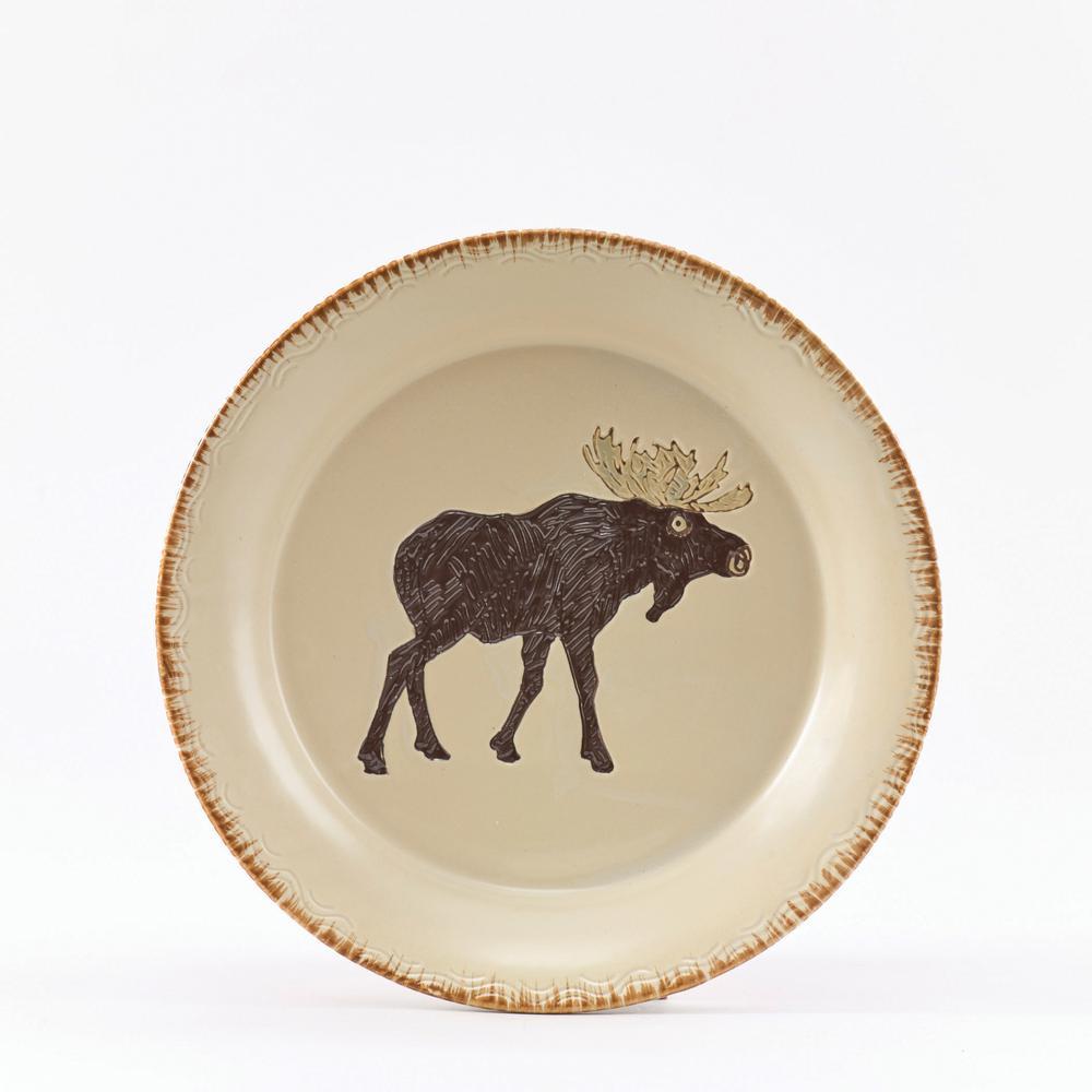 Rustic Retreat Tan Moose Salad Plate (Set of 4)