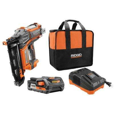 18-Volt Cordless Brushless HYPERDRIVE 16-Gauge 2-1/2 in. Straight Finish Nailer, 2.0 Ah Battery, Charger,Belt Clip,Bag