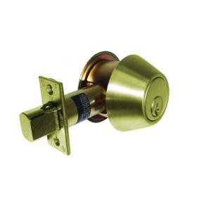 700 series grade 2 single cylinder deadbolt in bright brass - Deadbolts
