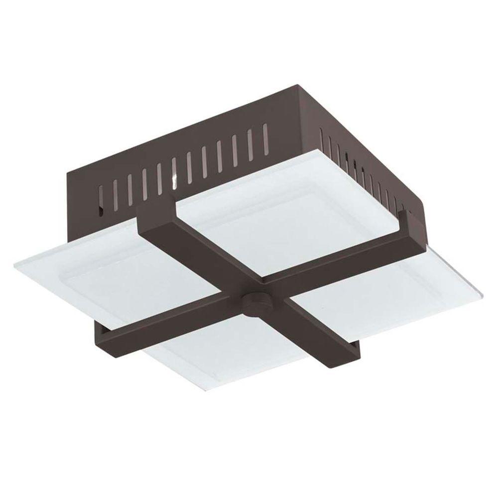 Providence 2-Light Bronze Incandescent Ceiling Flush Mount