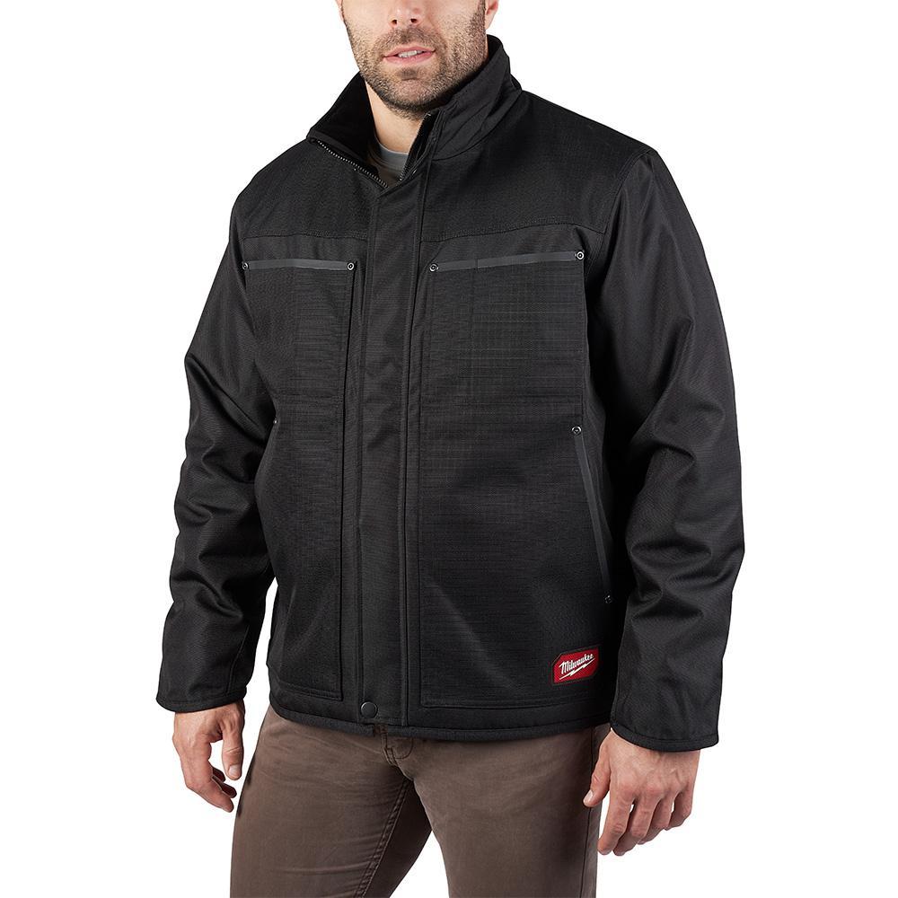 Men's Large Black Gridiron Traditional Jacket