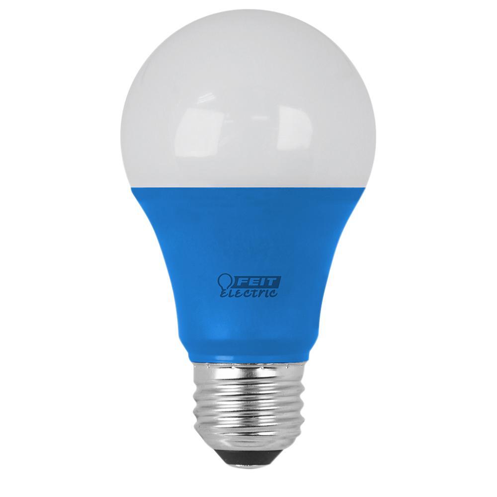 40W Equivalent A19 Blue Household LED Light Bulb (Case of 4)