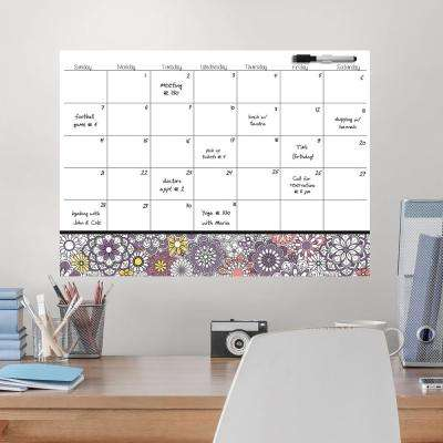 White Kerala Coloring Calendar Decal