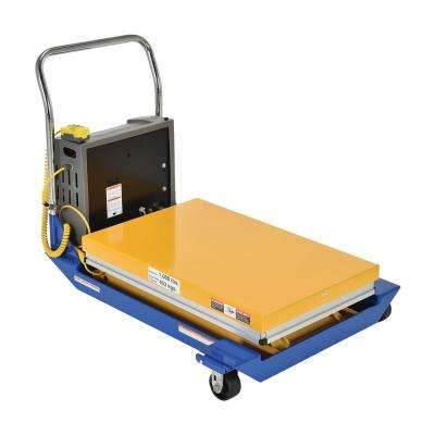 1,000 lbs. 36 in. x 24 in. Dc Powered Scissor Cart