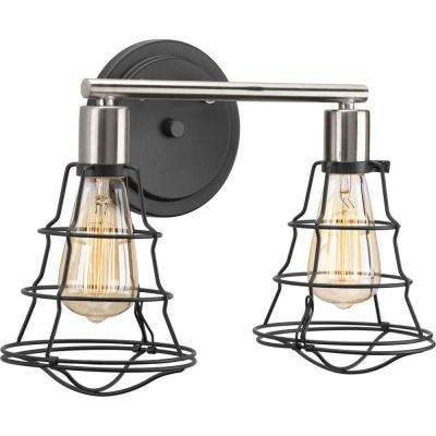 Gauge Collection 2-Light Graphite Vanity Light