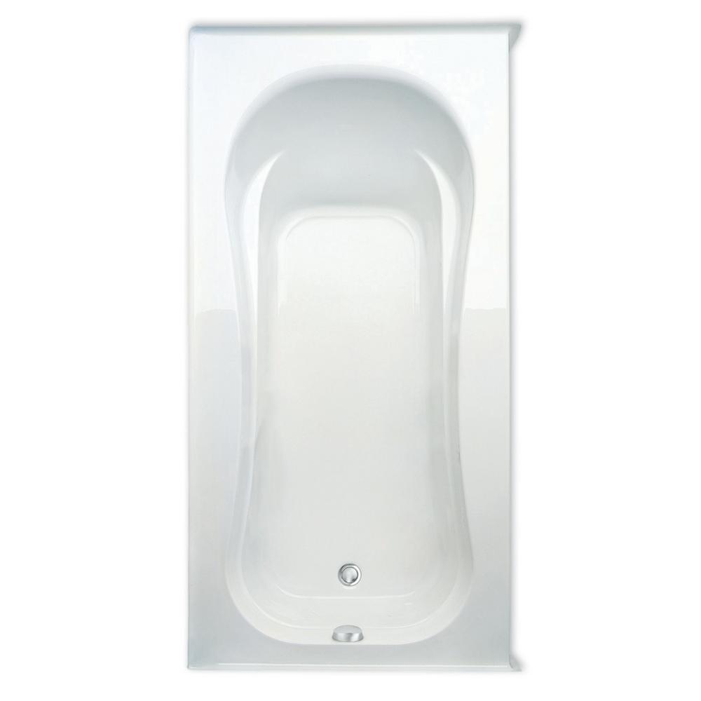 Vecelli 72 in. Acrylic Left Drain Rectangular Alcove Soaking Bathtub in