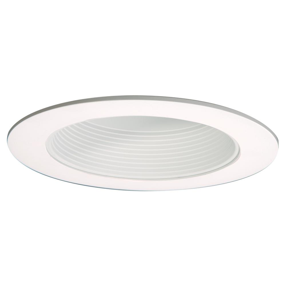 ML 6 in. White LED Recessed Ceiling Light Open Baffle Attachable