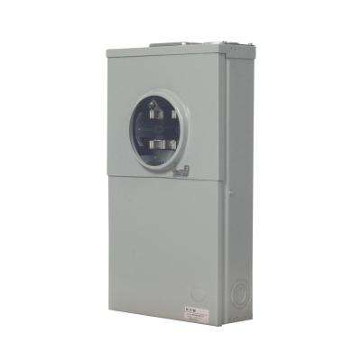 200 Amp 4-Space 8-Circuit Main Breaker Meter Breaker Panel with Barrel Lock Provision