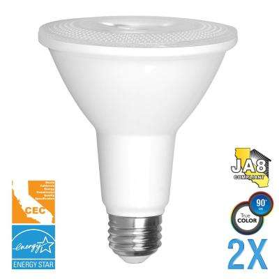 75-Watt Equivalent PAR30 Dimmable Long Neck LED Light Bulb (2-Pack)