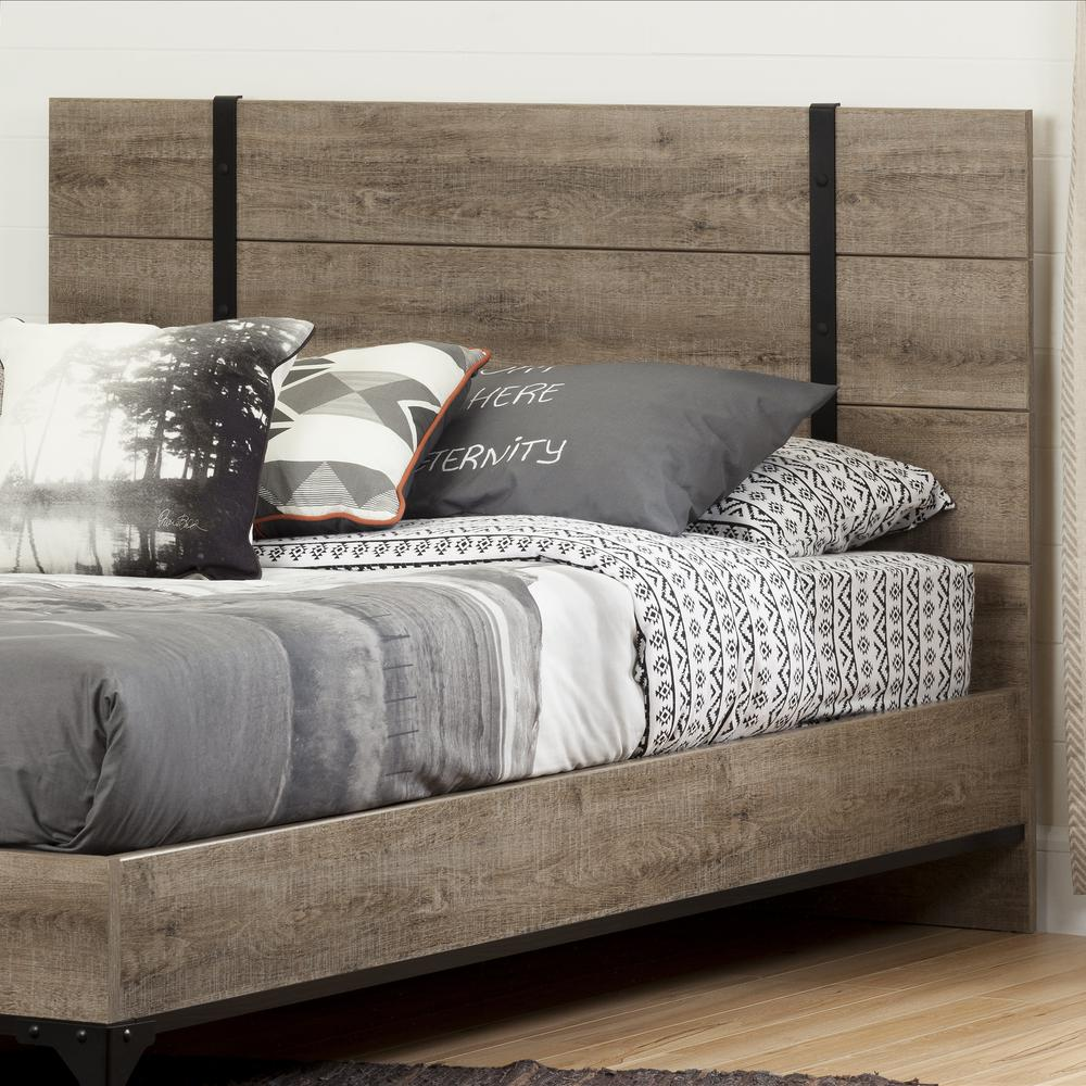 South S Valet Weathered Oak Full Queen Headboard 10499 The Home Depot