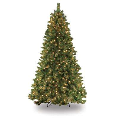 7.5 ft. Pre-Lit Teton Pine Artificial Christmas Tree with 600 Clear Lights