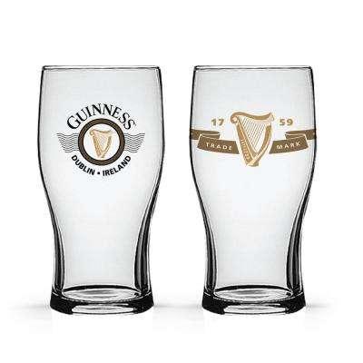 Boxed Tulip Glasses Harp Logos (Set of 2)