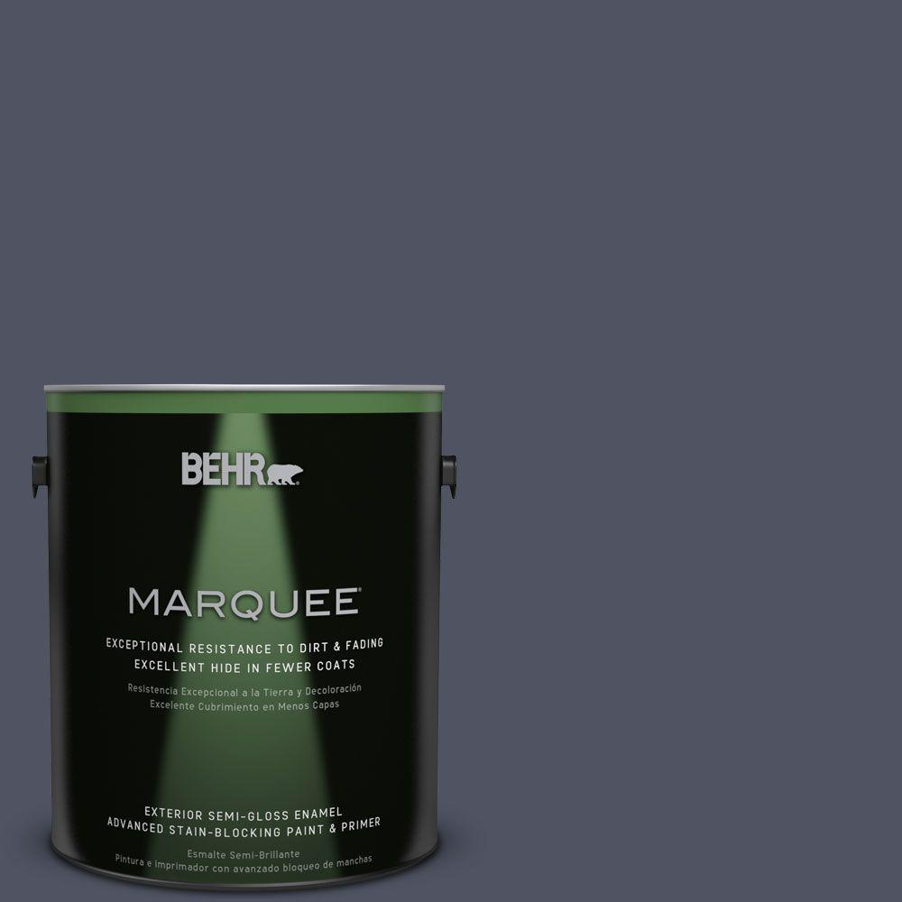 BEHR MARQUEE 1-gal. #S550-7 Knighthood Semi-Gloss Enamel Exterior Paint