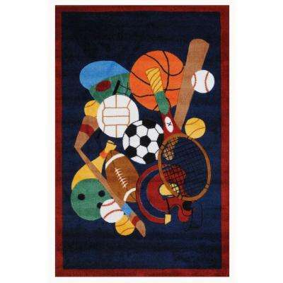 Supreme Sports America Multi Colored 5 ft. x 8 ft. Area Rug