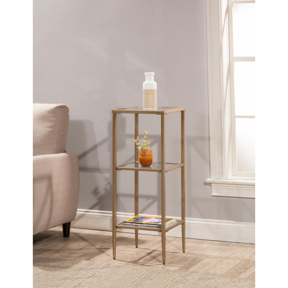 Harlan Gold Stand with 3-Shelves