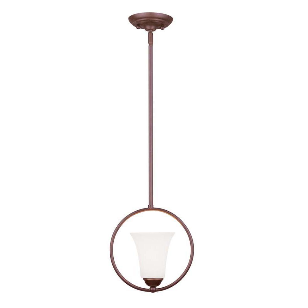 Livex Lighting Providence 1-Light Vintage Bronze Incandescent Ceiling Pendant