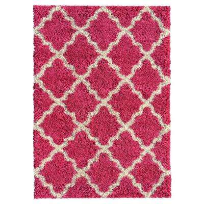 Bella Collection Pink 6 ft. 7 in. x 9 ft. 3 in. Area Rug