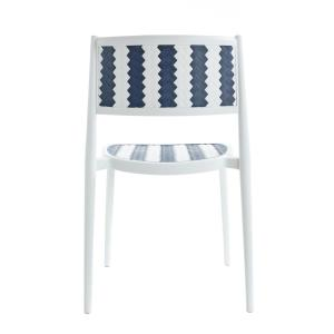 Pleasant Poly And Bark Tuxedo Gray Indoor Outdoor Dining Chair Set Bralicious Painted Fabric Chair Ideas Braliciousco