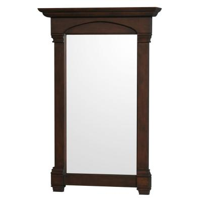 Andover 28 in. W x 41.25 in. H Framed Wall Mirror in Dark Cherry
