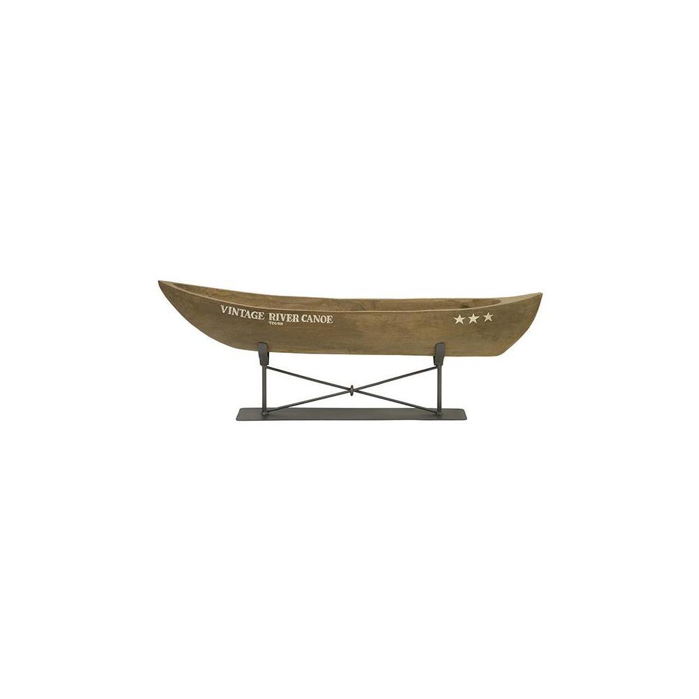 Superieur Mango Wood And Metal Vintage River Canoe