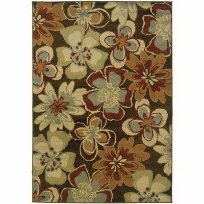 Grace Teslin Brown 5 ft. x 7 ft. Area Rug