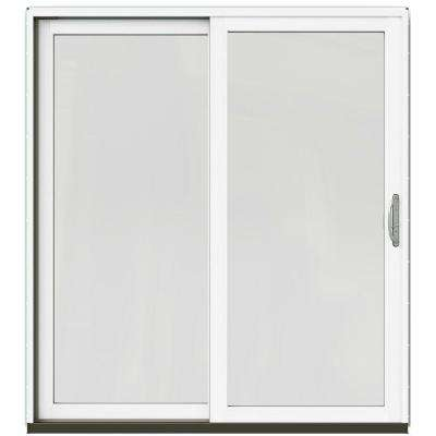 71-1/4 in. x 79-1/2 in. W-2500 Arctic Silver Left-Hand Clad-Wood Sliding Patio Door with Brilliant White Interior