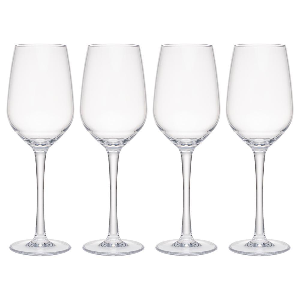 Hudson 4-Piece Tritan Acrylic 13 oz. White Wine Glass Set
