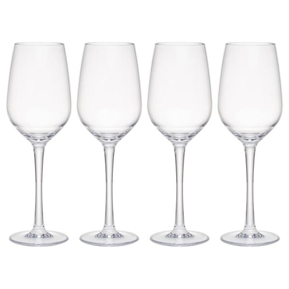 Q Squared Hudson 4 Piece Tritan Acrylic 13 Oz White Wine Glass Set Wgw01 The Home Depot