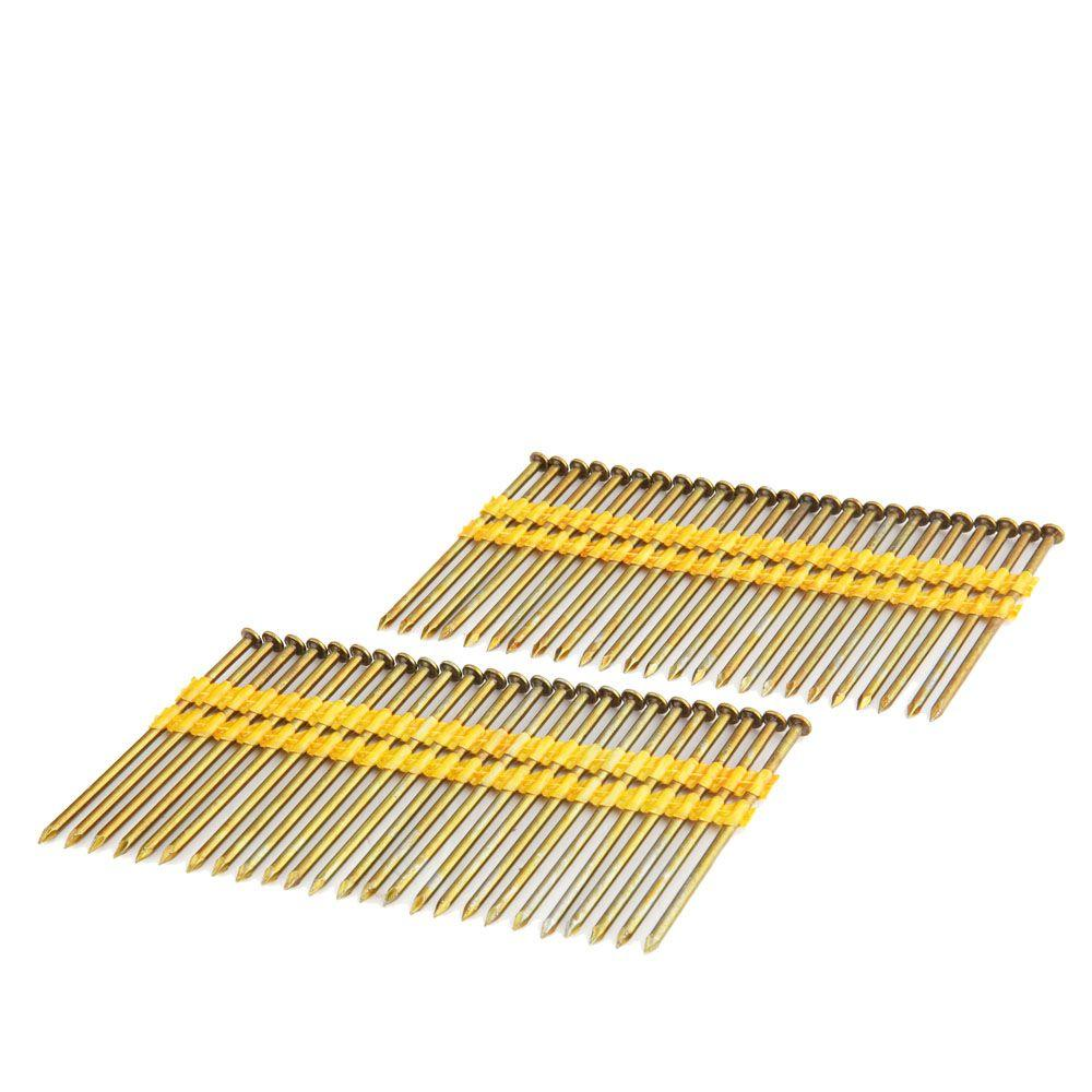 Freeman 3-1/4 in. x 0.131 in. 21-Degree Plastic Collated Smooth Shank Brite Coated Framing Nails (2000-Count)