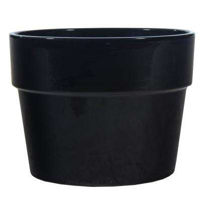 Dia Black Ceramic Pot