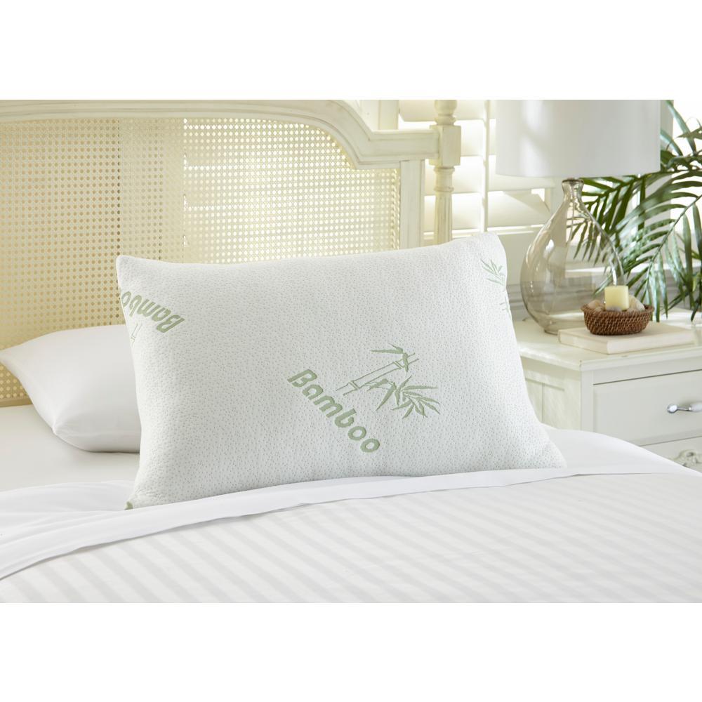 Bamboo Hypoallergenic Memory Foam Queen Pillow (Set of 2)