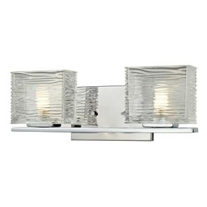 Pure 2-Light Chrome Bath Vanity Light