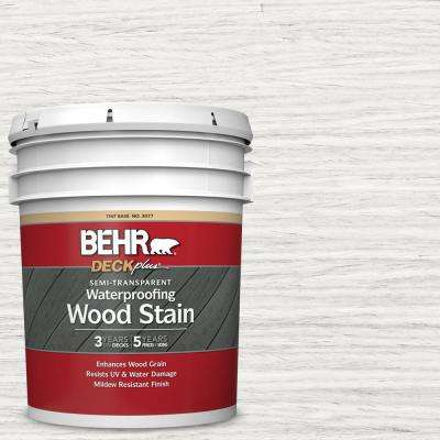 5 gal. #ST-210 Ultra Pure White Semi-Transparent Waterproofing Exterior Wood Stain