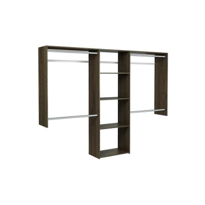 Essential Plus 60 in. W - 96 in. W Espresso Wood Closet System