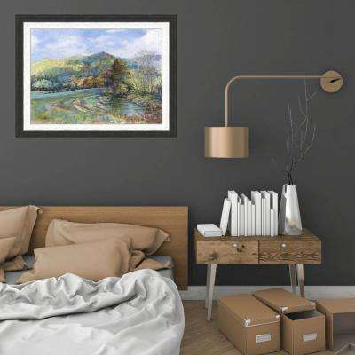 19 in. x 24 in. 'Riverbend' by William Suttles Textured Paper Print Framed Wall Art