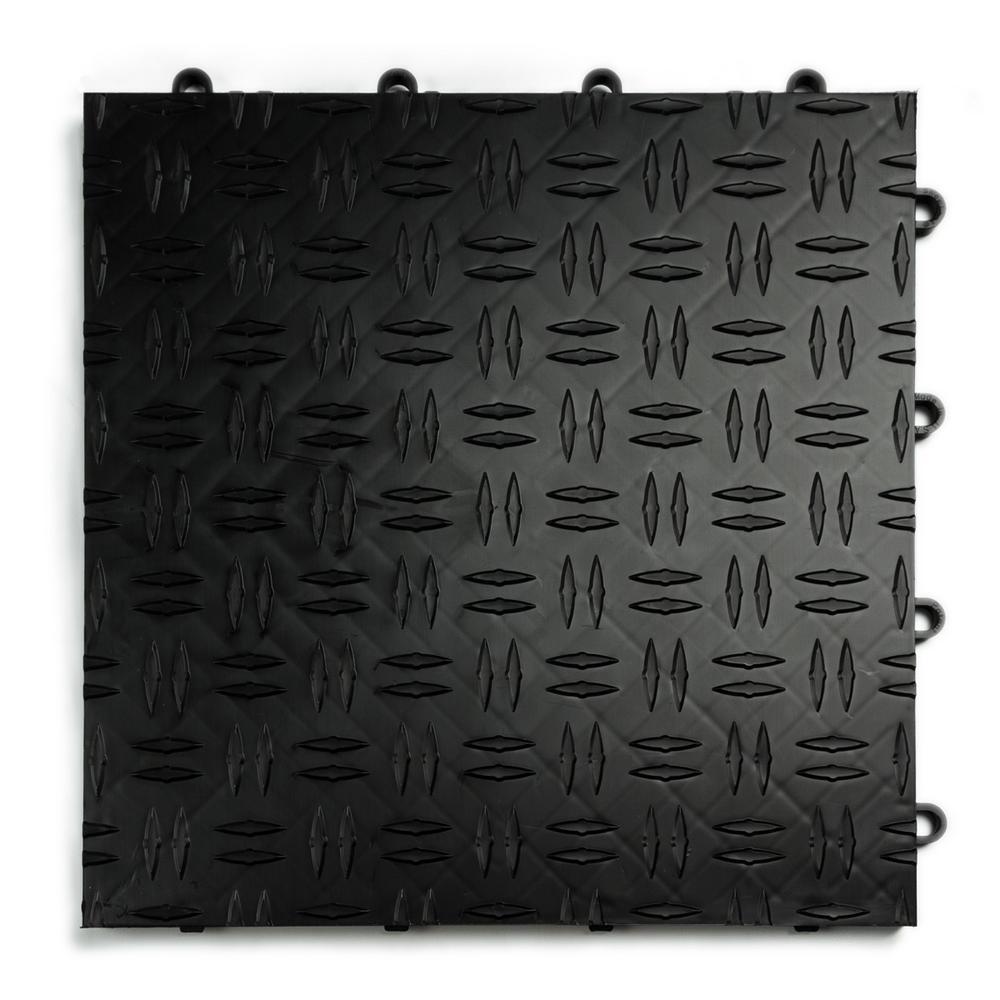 Motordeck 12 In X 12 In Diamond Black Modular Tile