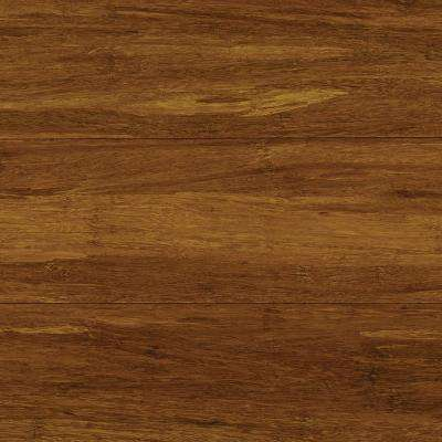 Take Home Sample - Strand Woven Harvest Click Lock Bamboo Flooring - 5 in. x 7 in.