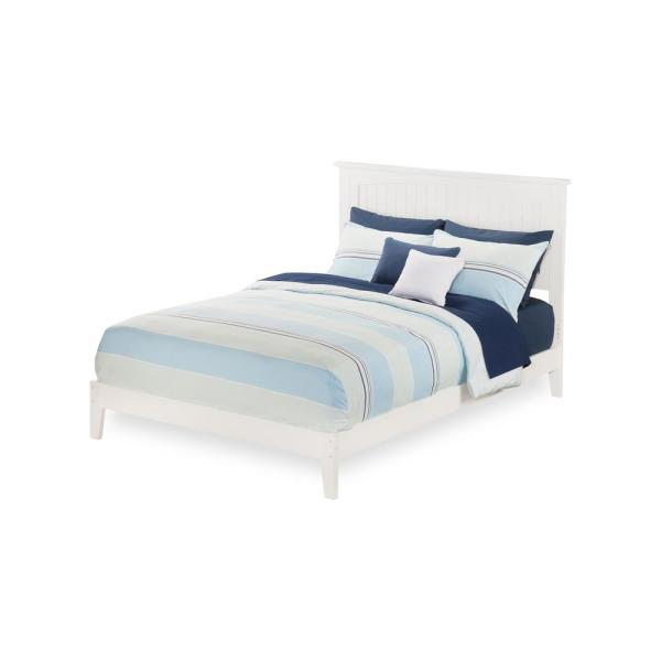 Atlantic Furniture Nantucket Full Traditional Bed in White AR8231032