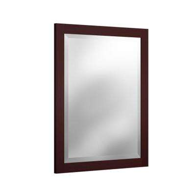 24 in. W x 30 in. H Beveled Vanity Mirror in Espresso